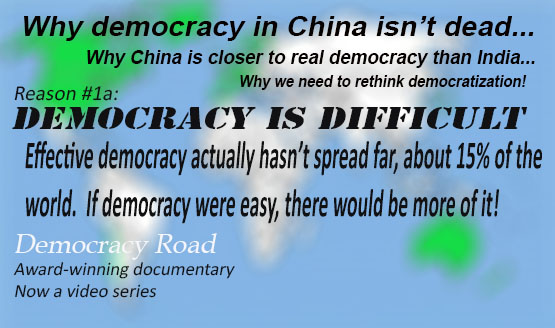 Democracy is rare and declining